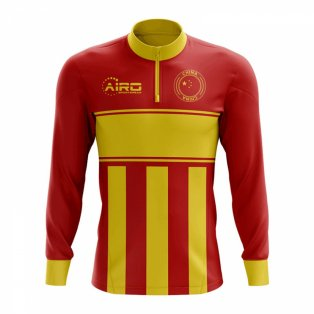 China Concept Football Half Zip Midlayer Top (Red-Yellow)