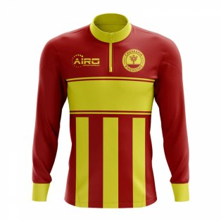 Chuvashia Concept Football Half Zip Midlayer Top (Red-Yellow)
