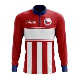 Czech Republic Concept Football Half Zip Midlayer Top (Red-White)