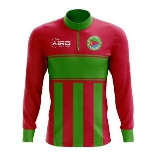 dfd5ab55296 Eritrea Concept Football Half Zip Midlayer Top (Red-Green)