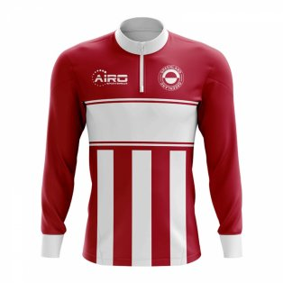 Greenland Concept Football Half Zip Midlayer Top (Red-White)