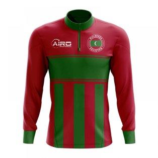 Maldives Concept Football Half Zip Midlayer Top (Red-Green)