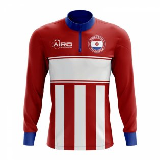 Mordovia Concept Football Half Zip Midlayer Top (Red-White)
