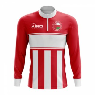 Oman Concept Football Half Zip Midlayer Top (Red-White)