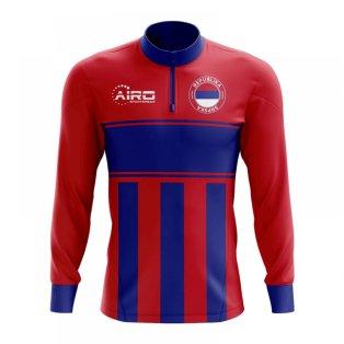 Republika Srpska Concept Football Half Zip Midlayer Top (Red-Blue)