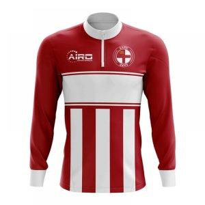 Sark Concept Football Half Zip Midlayer Top (Red-White)