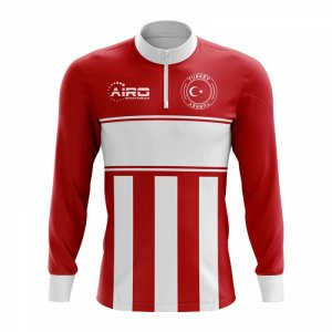 Turkey Concept Football Half Zip Midlayer Top (Red-White)