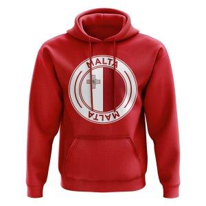 Malta Football Badge Hoodie (Red)