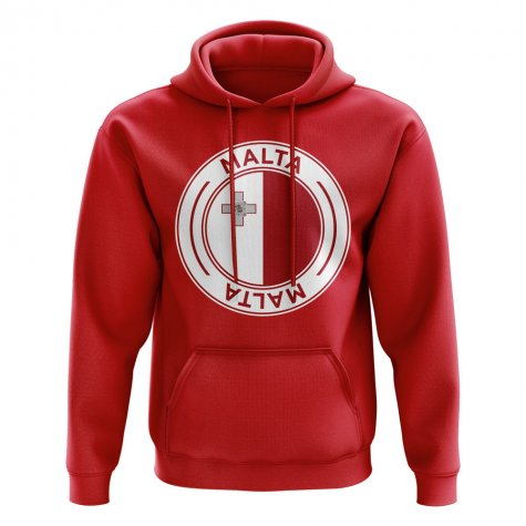 Malta Football Badge Hoodie (Red)