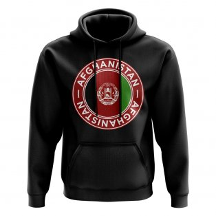 Afghanistan Football Badge Hoodie (Black)