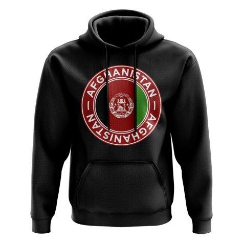 Afghanistan Football Badge Hoodie (Black)