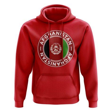 Afghanistan Football Badge Hoodie (Red)