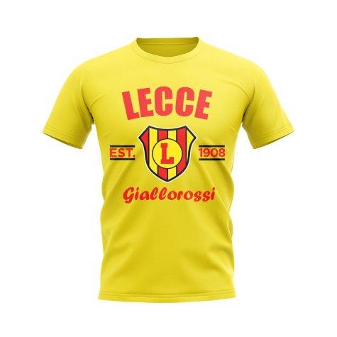 Lecce Established Football T-Shirt (Yellow)