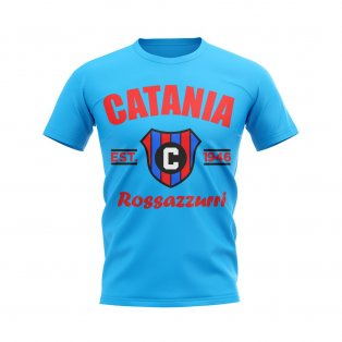 Catania Established Football T-Shirt (Sky Blue)