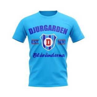 Djurgarden Established Football T-Shirt (Sky Blue)