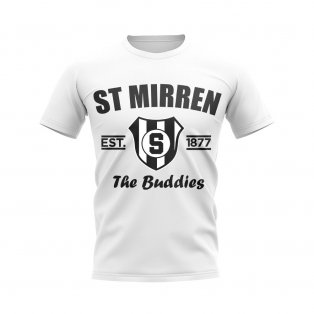 St Mirren Established Football T-Shirt (White)