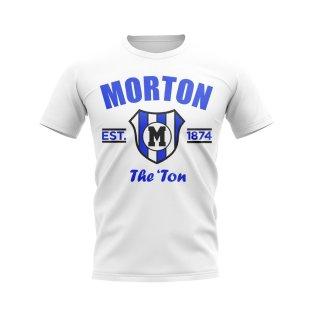 Greenock Morton Established Football T-Shirt (White)