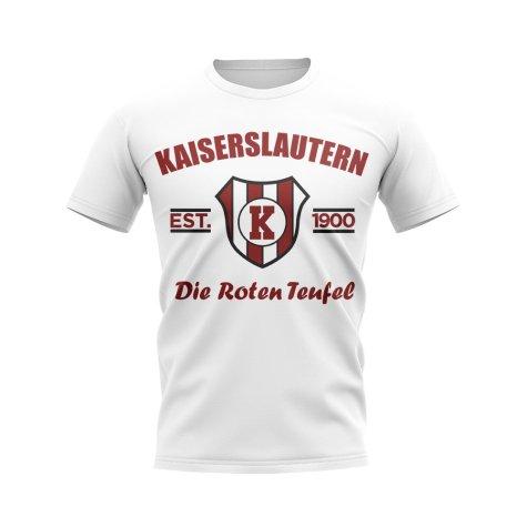 Kaiserslautern Established Football T-Shirt (White)