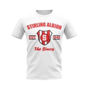 Stirling Albion Established Football T-Shirt (White)