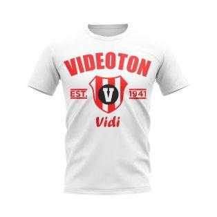 Videoton Established Football T-Shirt (White)