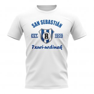 Real Sociedad Established Football T-Shirt (White)