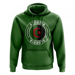 Algeria Football Badge Hoodie (Green)