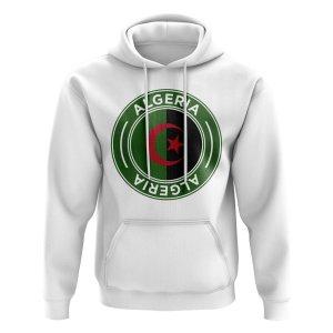 Algeria Football Badge Hoodie (White)