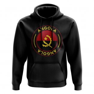 Angola Football Badge Hoodie (Black)