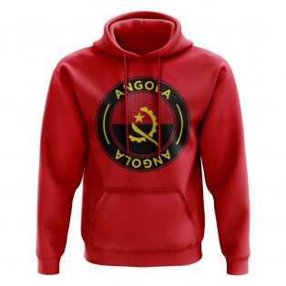 Angola Football Badge Hoodie (Red)