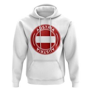 Austria Football Badge Hoodie (White)