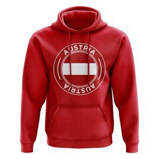 Austria Football Badge Hoodie (Red)