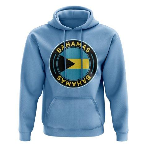Bahamas Football Badge Hoodie (Sky)