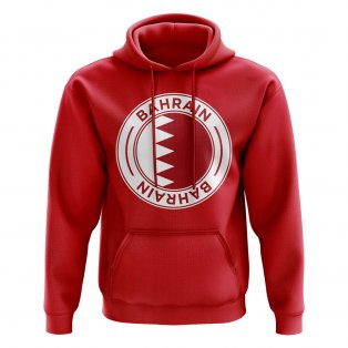 Bahrain Football Badge Hoodie (Red)