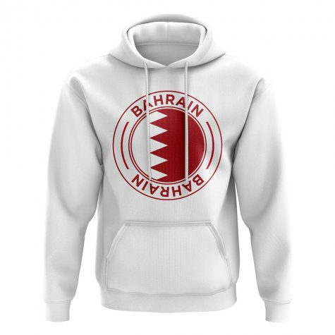 Bahrain Football Badge Hoodie (White)