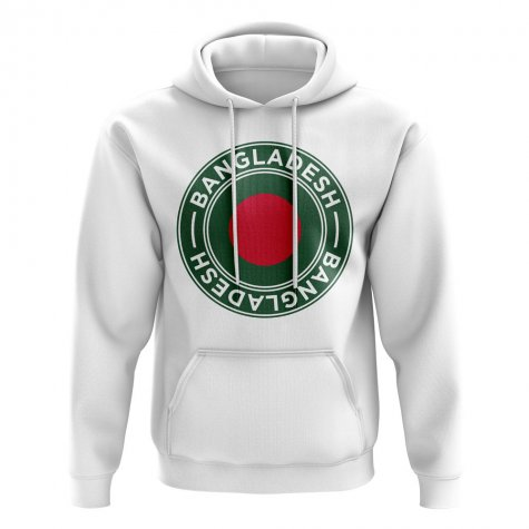Bangladesh Football Badge Hoodie (White)