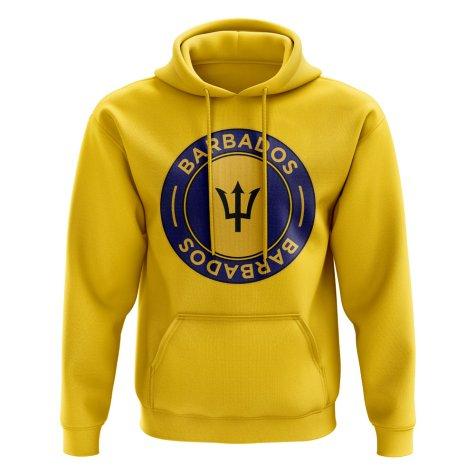 Barbados Football Badge Hoodie (Yellow)