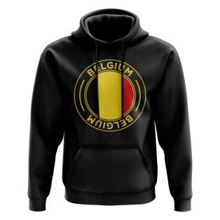 Belgium Football Badge Hoodie (Black)