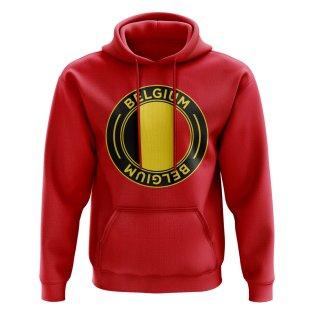 Belgium Football Badge Hoodie (Red)