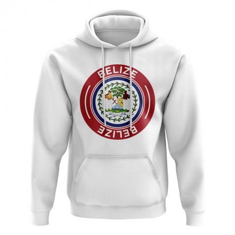 Belize Football Badge Hoodie (White)