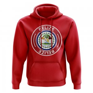 Belize Football Badge Hoodie (Red)