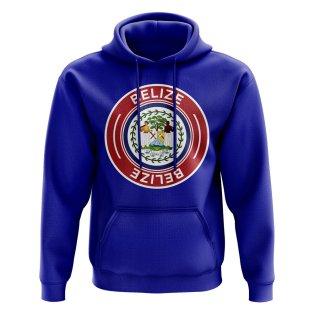 Belize Football Badge Hoodie (Royal)