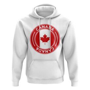 Canada Football Badge Hoodie (White)