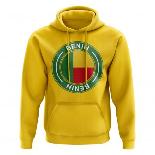 Benin Football Badge Hoodie (Yellow)