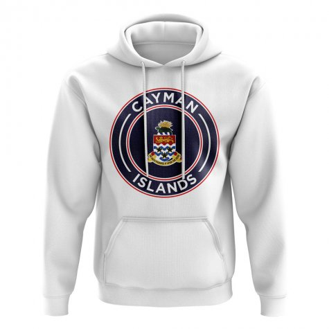 Cayman Islands Football Badge Hoodie (White)