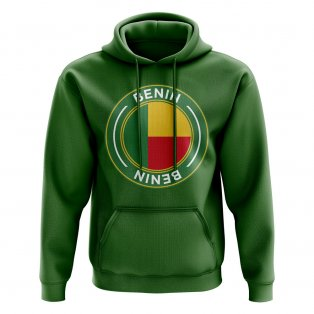 Benin Football Badge Hoodie (Green)