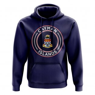 Cayman Islands Football Badge Hoodie (Navy)