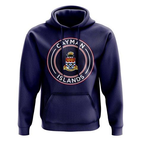 Cayman Islands Football Badge Hoodie (Navy)