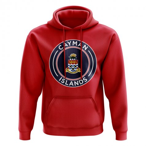 Cayman Islands Football Badge Hoodie (Red)