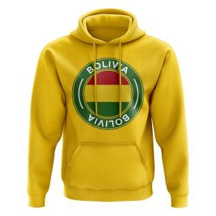 Bolivia Football Badge Hoodie (Yellow)