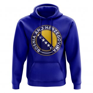 Bosnia and Herzegovina Football Badge Hoodie (Royal)